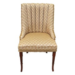 Vintage French Fluted Leg Ladies Parlor Side Chair