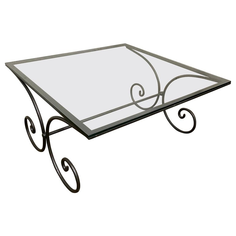 Vintage French Garden Coffee Table For Sale