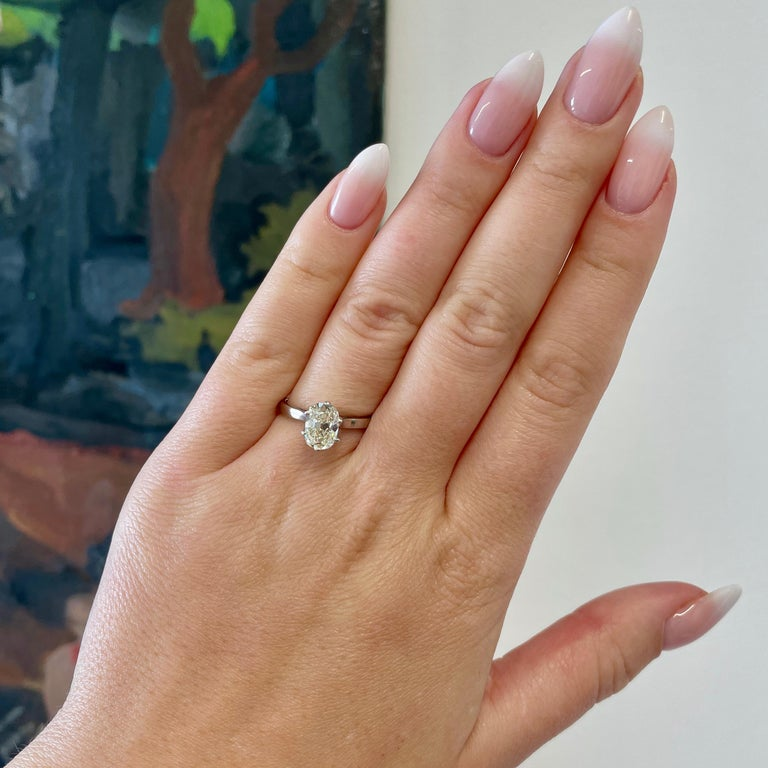 Are you looking for a timeless and classic ring; one not only with historical value but still stylish today? Consider this Vintage French GIA 1.54 carat Antique Cushion Cut Diamond White Gold Solitaire Engagement Ring. This ring provides simplicity,