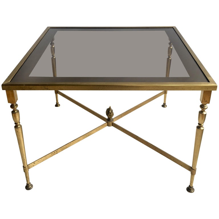 French Gilt Coffee Table: Vintage French Gilt Metal Coffee Table For Sale At 1stdibs