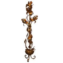 Vintage French Gilt Tole Tree Floor Lamp