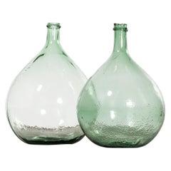 Vintage French Glass Demijohn, Pair of Demijohn 'Model 957.12'