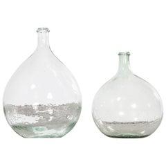 Vintage French Glass Demijohn, Pair of Demijohn 'Model 957.14'