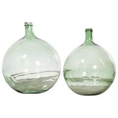 Vintage French Glass Demijohn, Pair of Demijohn 'Model 957.4'