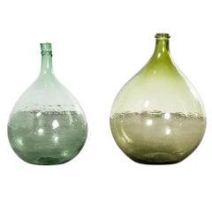 Vintage French Glass Demijohn, Pair of Demijohn 'Model 957.5'