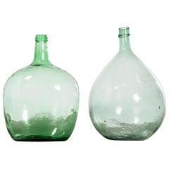 Vintage French Glass Demijohn, Pair of Demijohn 'Model 957.7'