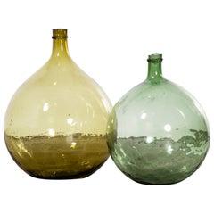 Vintage French Glass Demijohn, Pair of Demijohn 'Model 957.8'