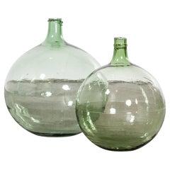 Vintage French Glass Demijohn, Pair of Demijohn 'Model 957.9'