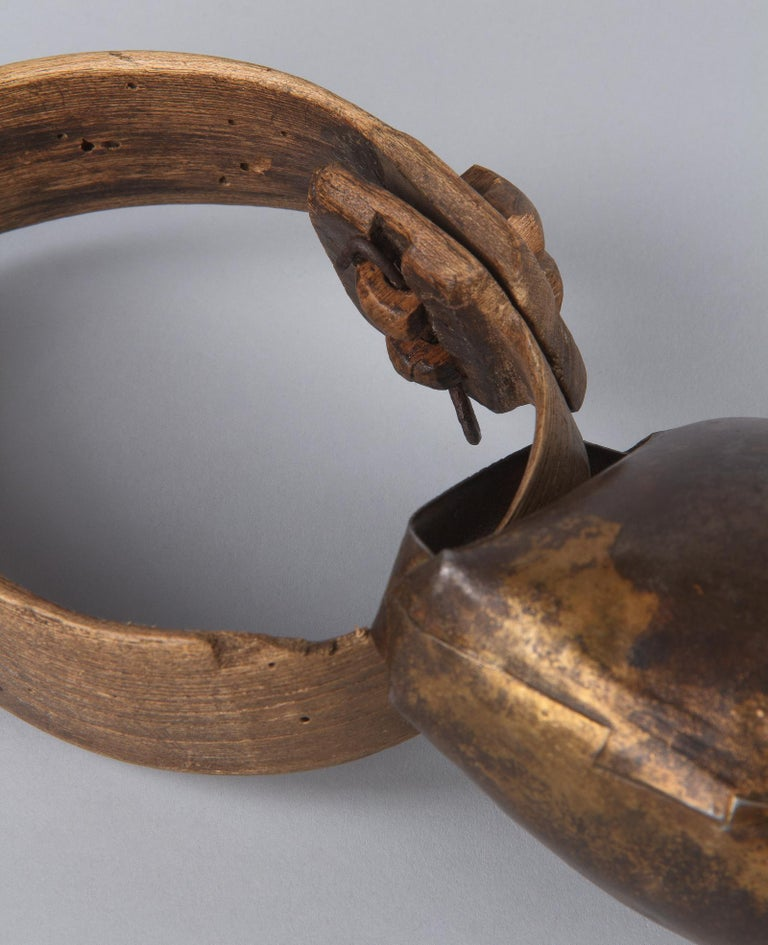 Rustic Vintage French Goat Bell, 20th Century For Sale