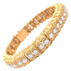 Vintage Oscar Heyman Diamond 18 Karat Gold Bracelet