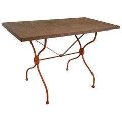 Vintage French Iron Garden Table