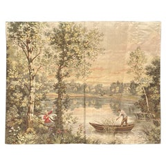Vintage French Jaquar Aubusson Style Tapestry