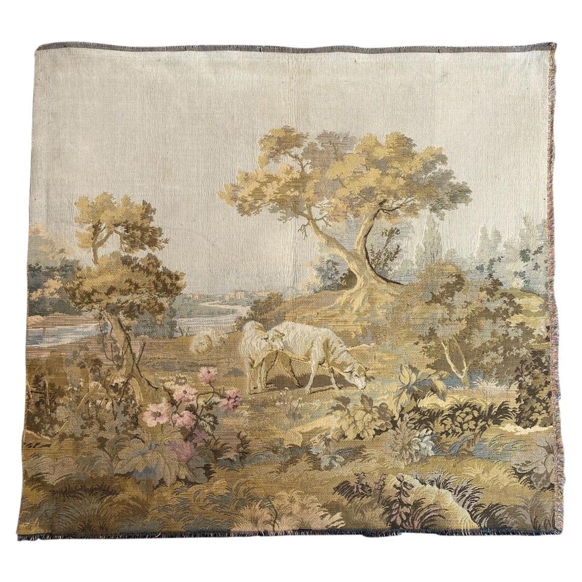 Vintage French Jaquar Tapestry
