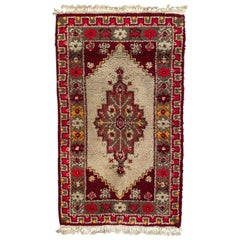 Vintage French Knotted Cogolin Rug