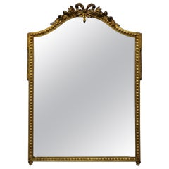 Vintage French Louis XV Giltwood Wall Mirror, circa 1930