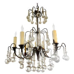 Vintage French Louis XVI Style Crystal Chandelier