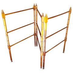 Vintage French Mahogany Towel Stand or Rack, Mid 20th Century