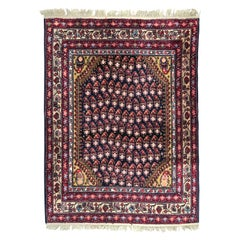 Vintage French Malayer Style Knotted Rug