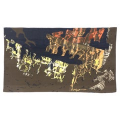 Vintage French Mathieu Matégot Abstract Expressionist Tapestry