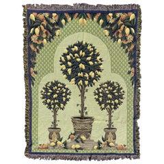 Vintage French Mechanical Jaquar Tapestry