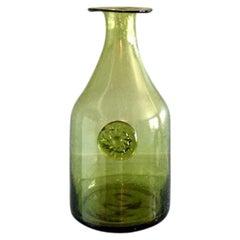 Vintage French Midcentury Blown Glass Vase/Vessel