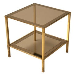 Vintage French Mid-Century Modern Design Two-Tier End/Side Table