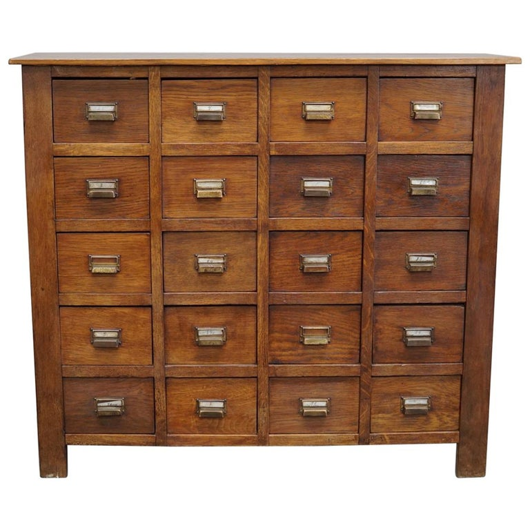 Vintage French Oak Apothecary Cabinet 1930s At 1stdibs