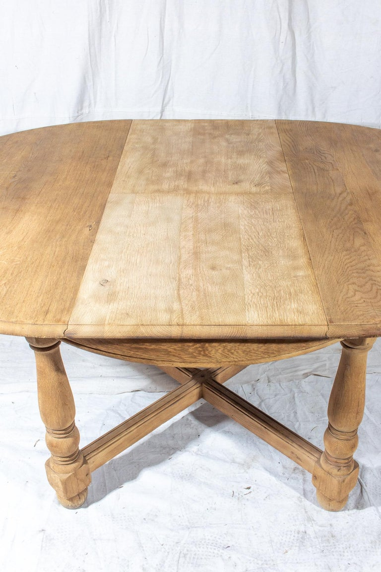 Vintage French Oak Butterfly Leaf Table For Sale 8