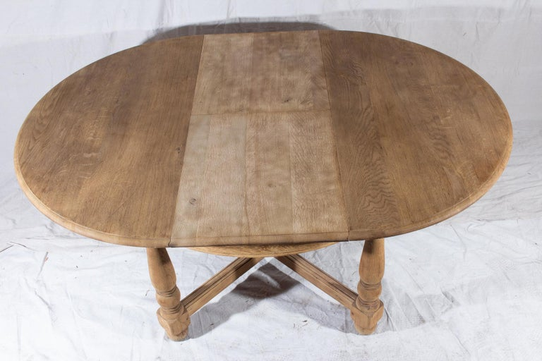 Vintage French Oak Butterfly Leaf Table For Sale 9