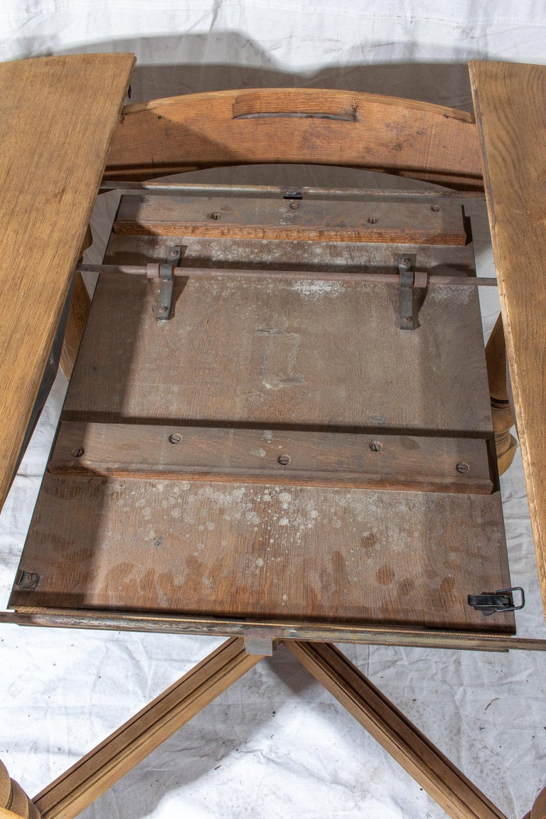 Vintage French Oak Butterfly Leaf Table For Sale 5