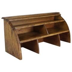 Vintage French Oak Desk Organizer