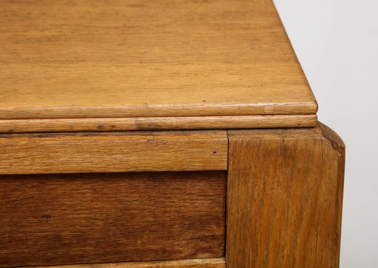 Vintage French Oak Table with Drawer Signed Mercier & Chaleyssin, circa 1940s For Sale 6