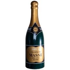 Vintage French Oversized Champagne Massé Bottle Prop