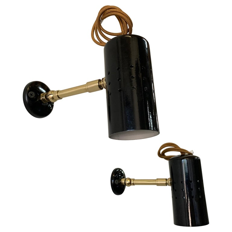 Vintage French Petite Spot Lights/ Wall Sconces, Pair For Sale