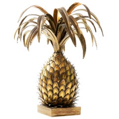 Vintage French Pineapple/Ananas Table Lamp by Maison Jansen