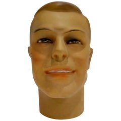 Vintage French Plaster Mannequin Head