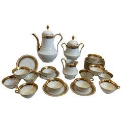Vintage French Porcelain Tea Set, 28 Pieces