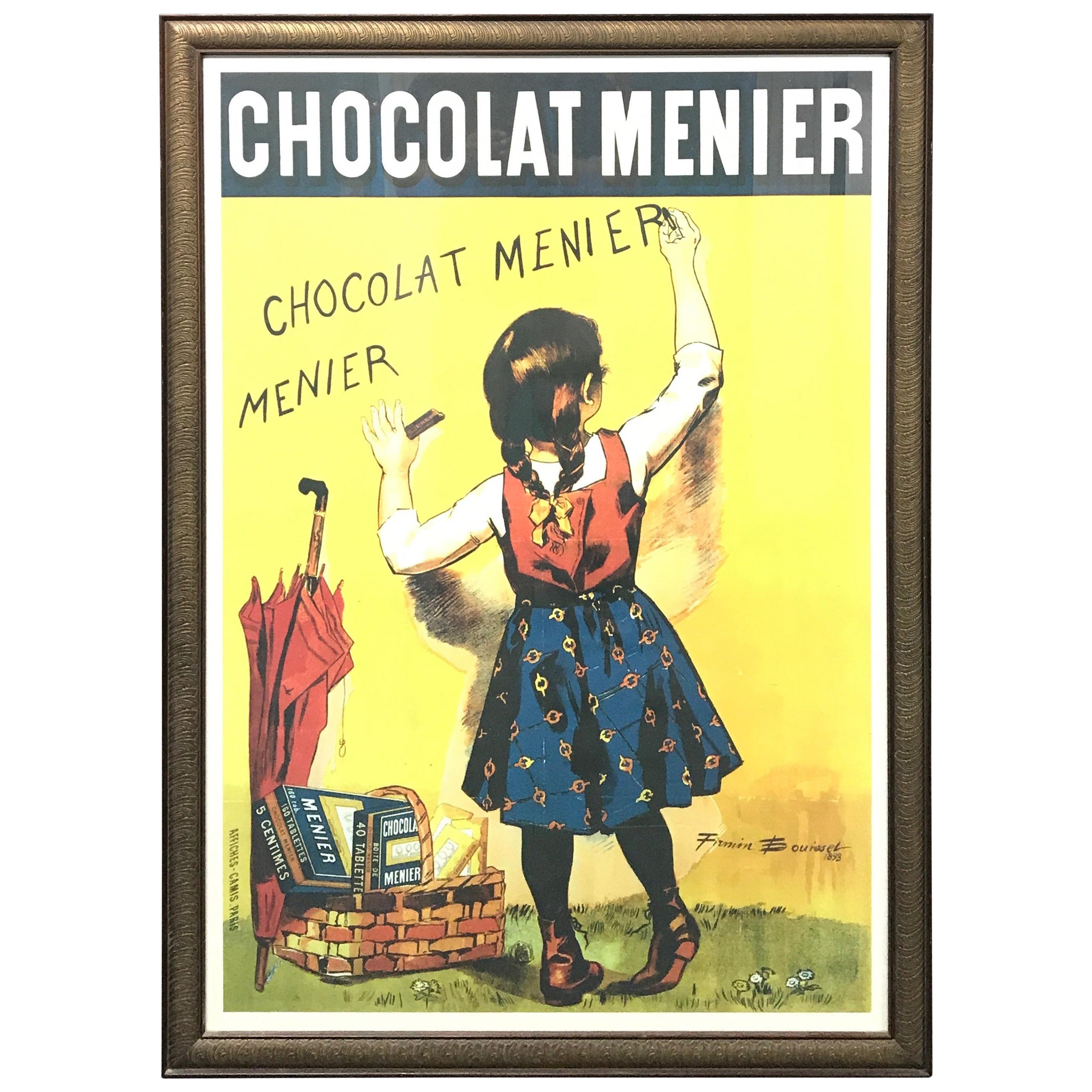 """Chocolate Menier Poster Wall Clock Paris France Country French Kitchen New 10/"""""""