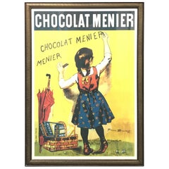 "Vintage French Poster Titled ""Chocolate Menier"""