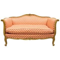 Vintage French Provincial Country Louis XV Bloomingdales Trianon Loveseat Settee