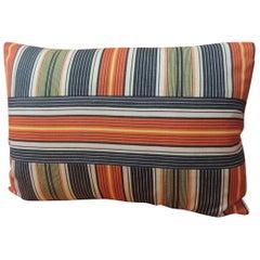 Vintage French Provincial Linen Stripes Decorative Lumbar Pillow