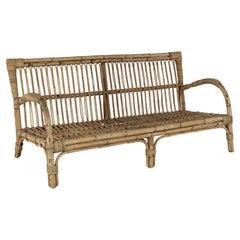 Vintage French Rattan Sofa