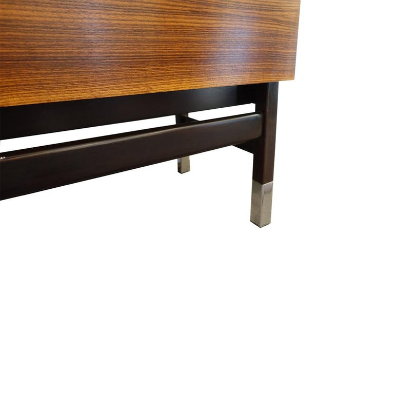 Mid-Century Modern Vintage Alain Richard French Rosewood Credenza, France, c. 1960s For Sale