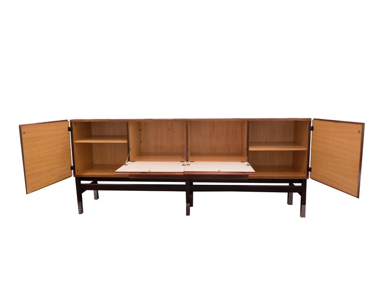 20th Century Vintage Alain Richard French Rosewood Credenza, France, c. 1960s For Sale