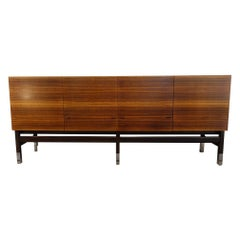 Vintage Alain Richard French Rosewood Credenza, France, c. 1960s