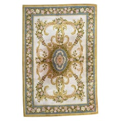 Vintage French Savonnerie Style Rug