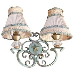 Charming Vintage French Iron Sconce
