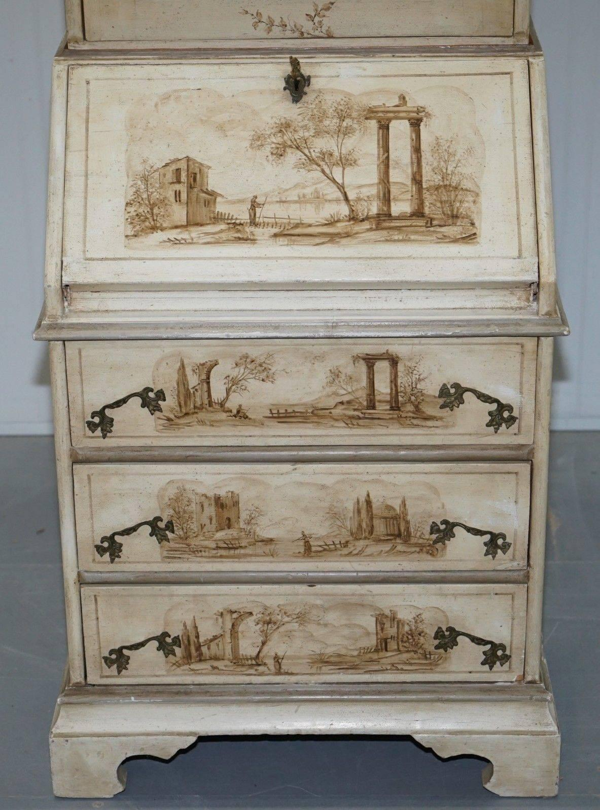 Vintage French Shabby Chic Style Hand Painted Bureau