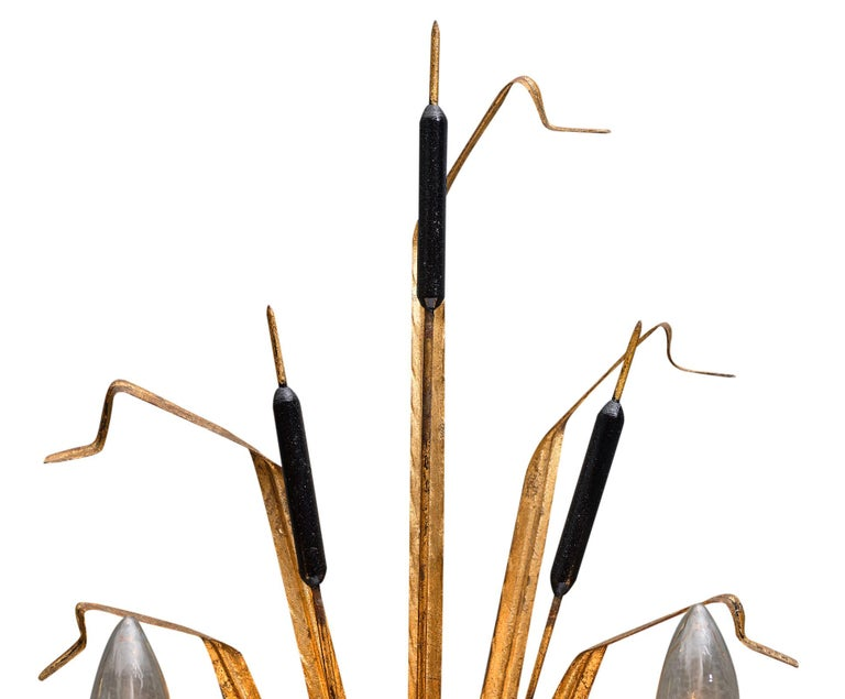 Mid-20th Century Vintage French Sheaf of Wheat Sconces by Maison Baguès For Sale