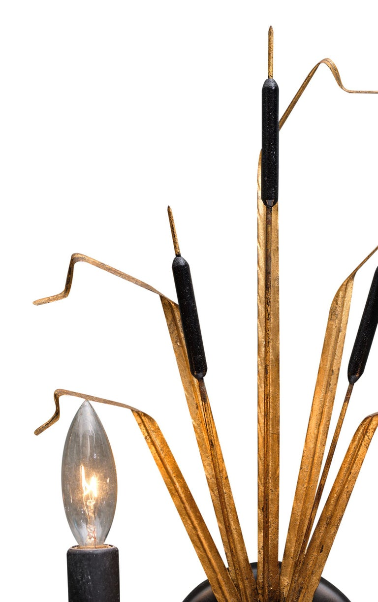 Metal Vintage French Sheaf of Wheat Sconces by Maison Baguès For Sale